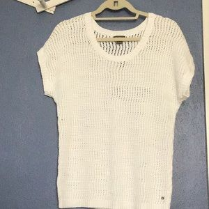 Short sleeve loosely knitted summer sweater